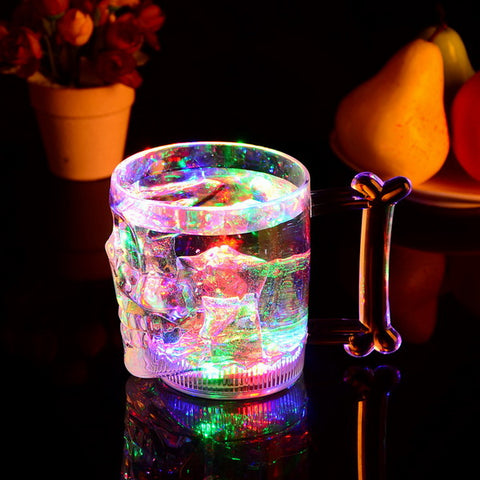 16oz led flashing skull mug