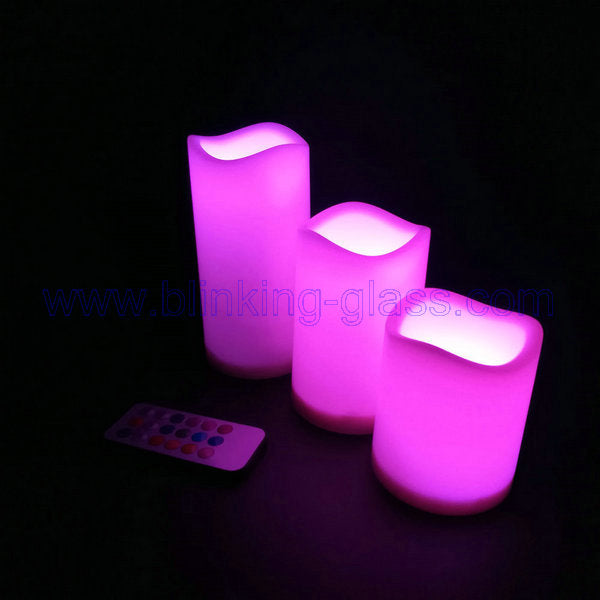 Remote control led flameless mood candles