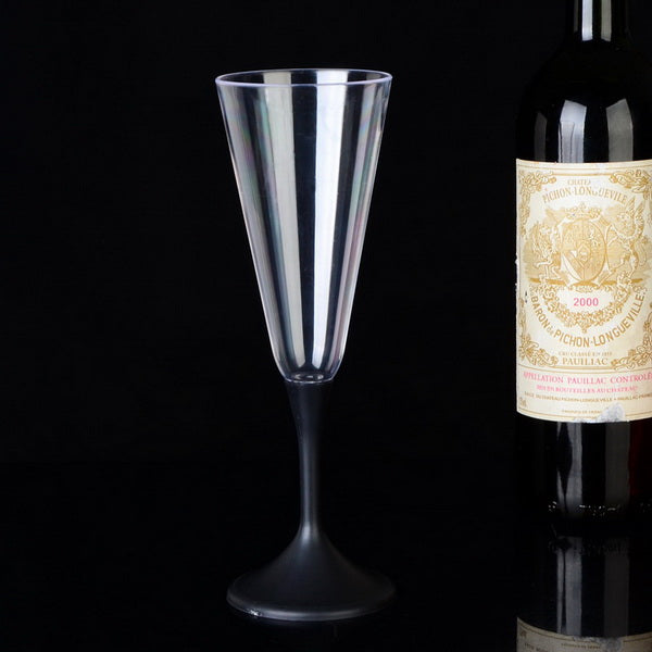 6oz Led light up plastic drinking champagne cup goblet glass GL-M140B
