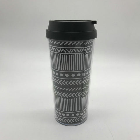 16oz Plastic double wall coffee mug