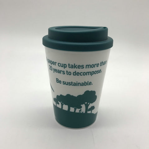 12oz Plastic drinking double wall coffee cup
