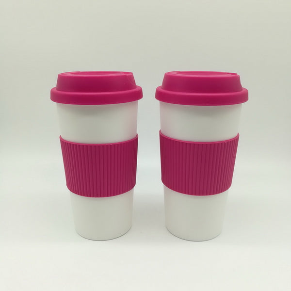 16oz Drinking coffee mug with lid