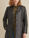 Women's Nora Button Down Lamb Trench