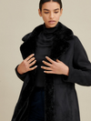 Faux Shearling Center Front Button Coat
