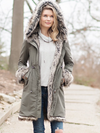 Donna Salyers Fabulous Hooded Faux Fur Knee Length Coat
