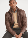 Polo Ralph Lauren Lambskin Leather Jacket Brown