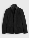 Survey Leather Blazer Washed Black