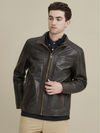 Sean Vintage Leather Jacket Brown