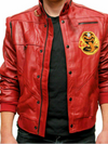 The Karate Kid Johny Lawrence Cobra Kai Red Leather Jacket