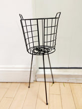 Load image into Gallery viewer, MEDIUM Black Pot Holder on Legs - 50 tall x 19cm diameter