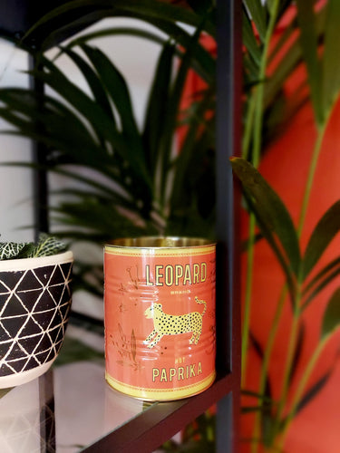 Red Leopard Tin Planter - 10 x 11cm
