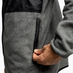 Men's Classic Polartec® Fleece Jacket - Heather Grey
