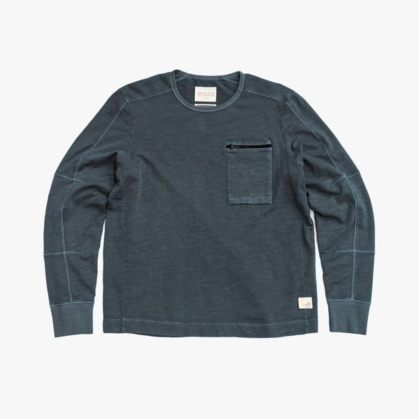 Men's Long Sleeve Crew - Faded Navy