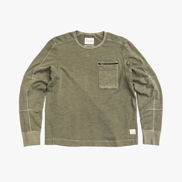 Men's Long Sleeve Crew - Dusty Olive