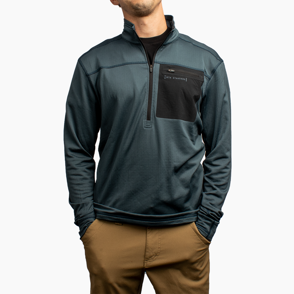 Men's 1/4 Zip Grid Fleece