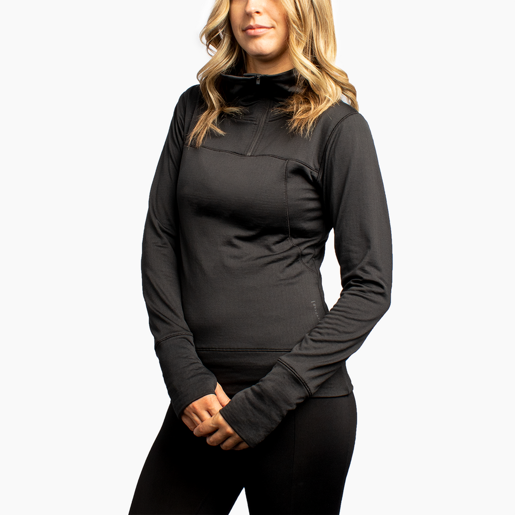 Women's 1/4 Zip Grid Fleece
