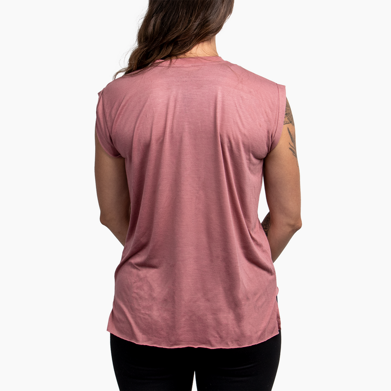 Women's Good Vibes Tee - Mauve