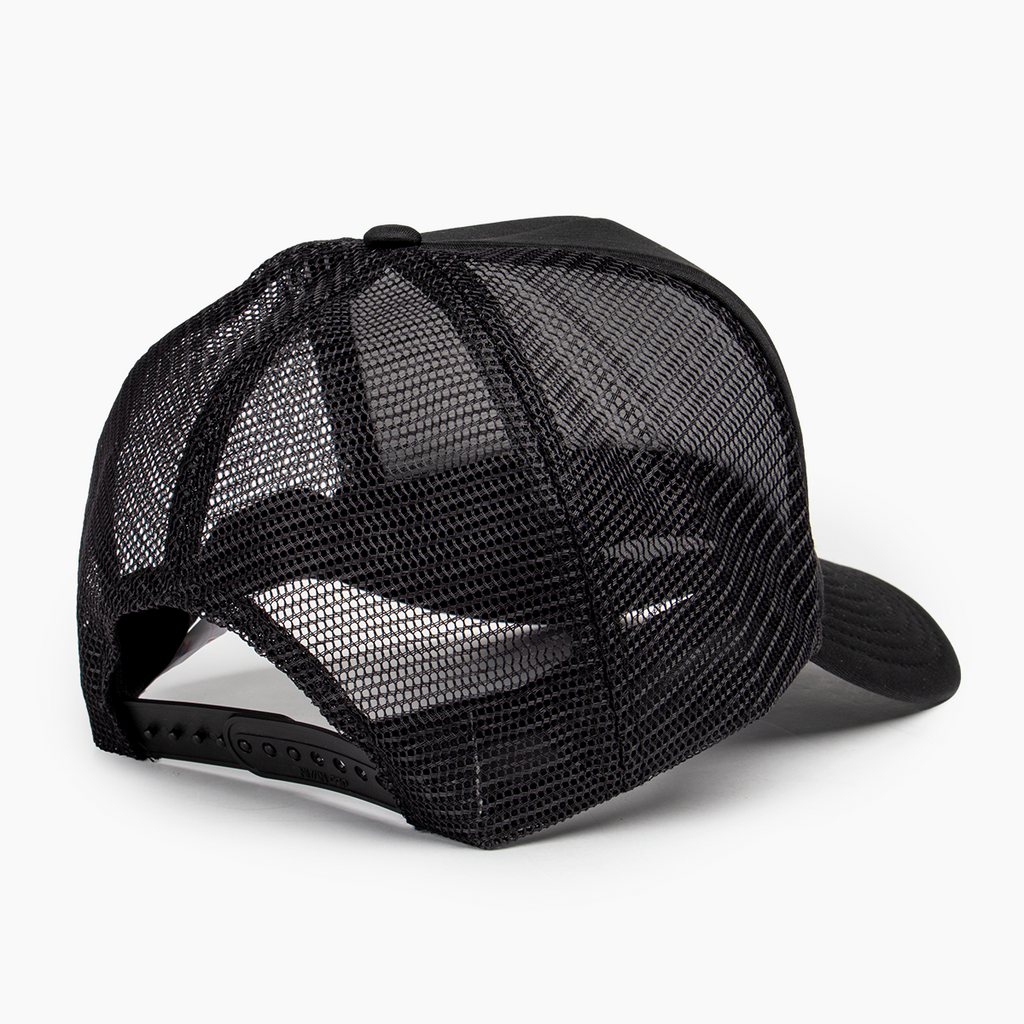 Logo Block Trucker Hat - Black