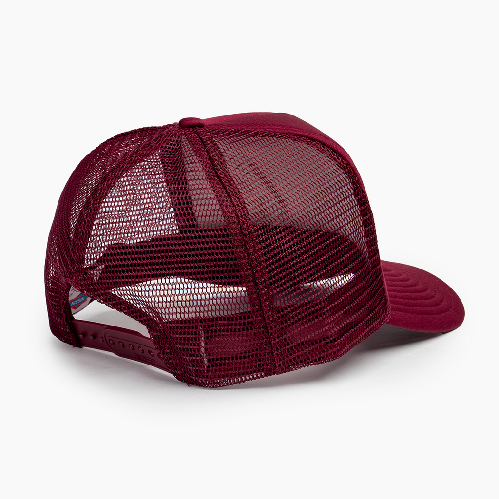 Logo Block Trucker Hat - Maroon
