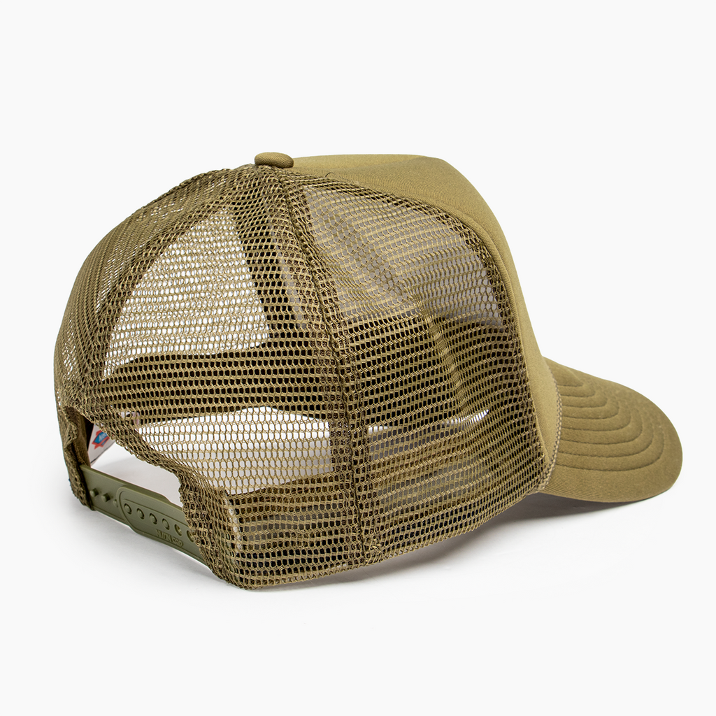 Logo Block Trucker Hat - Olive