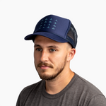Glyphs Trucker Hat - Navy