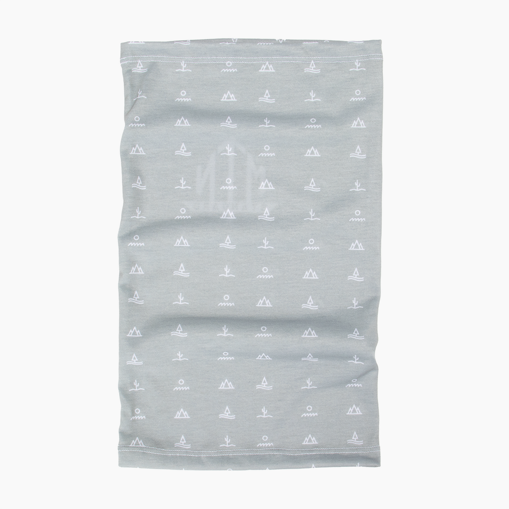 Glyphs Neck Gaiter - Light Grey
