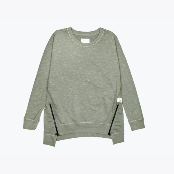 Women's Terry Crew - Dusty Olive