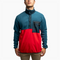 Men's Polartec® Fleece Pullover - Dusty Blue/Red