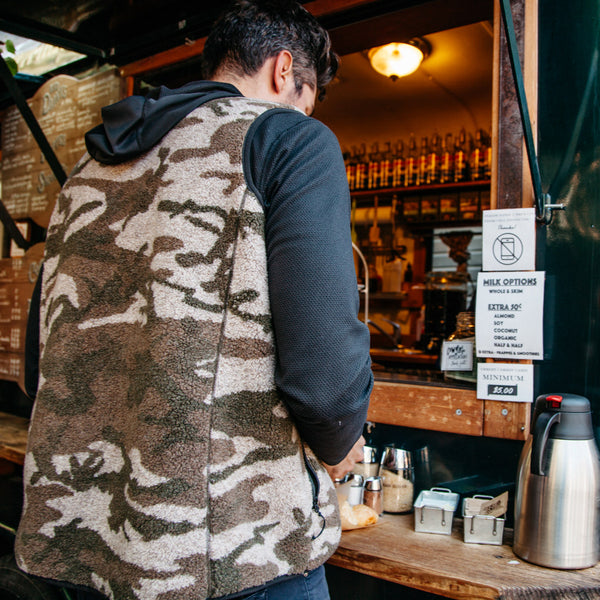 Camo Sherpa Fleece Vest