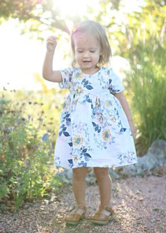 Casey Dress - Blue Floral