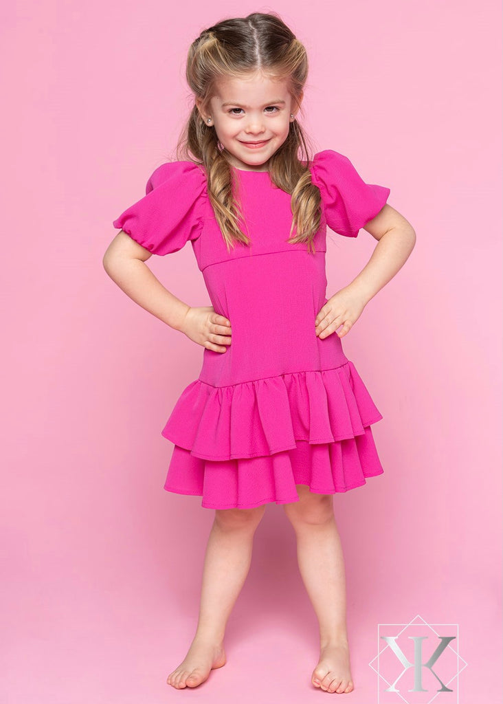 Nora Dress - Hot Pink