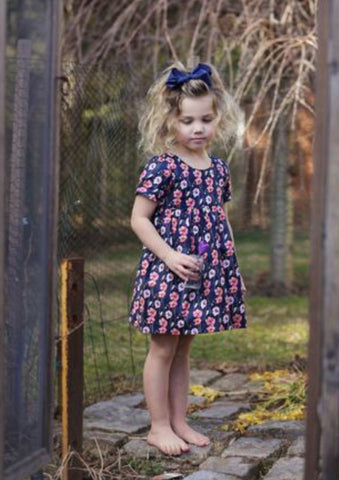 Casey Dress - Navy Floral