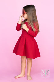 Nadine Dress - Red