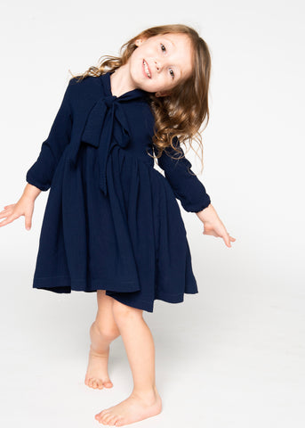 Jaymes Dress - Navy