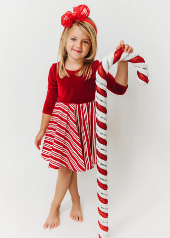Juliana Dress - Candy Cane