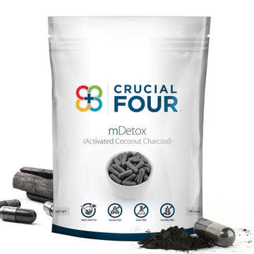 mDetox | Activated Coconut Charcoal | 90 Veggie Caps