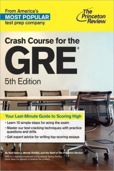 Crash Course for the GRE, 5th Edition - Used