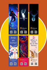 Bookmarks (Set of 6) - Premium Quality