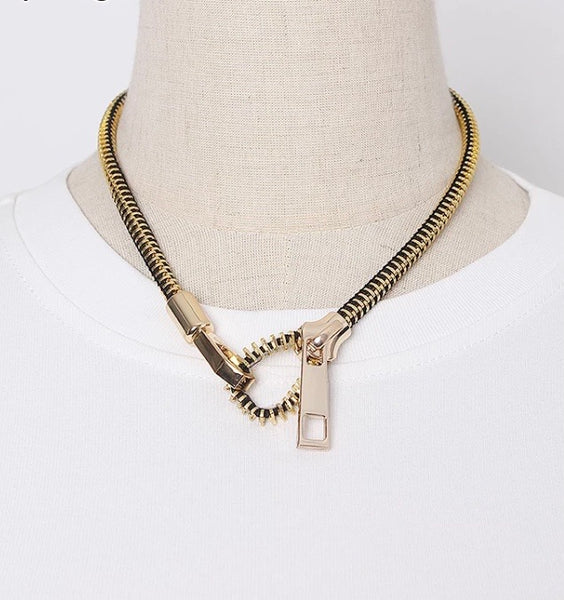 Unzipped Necklace