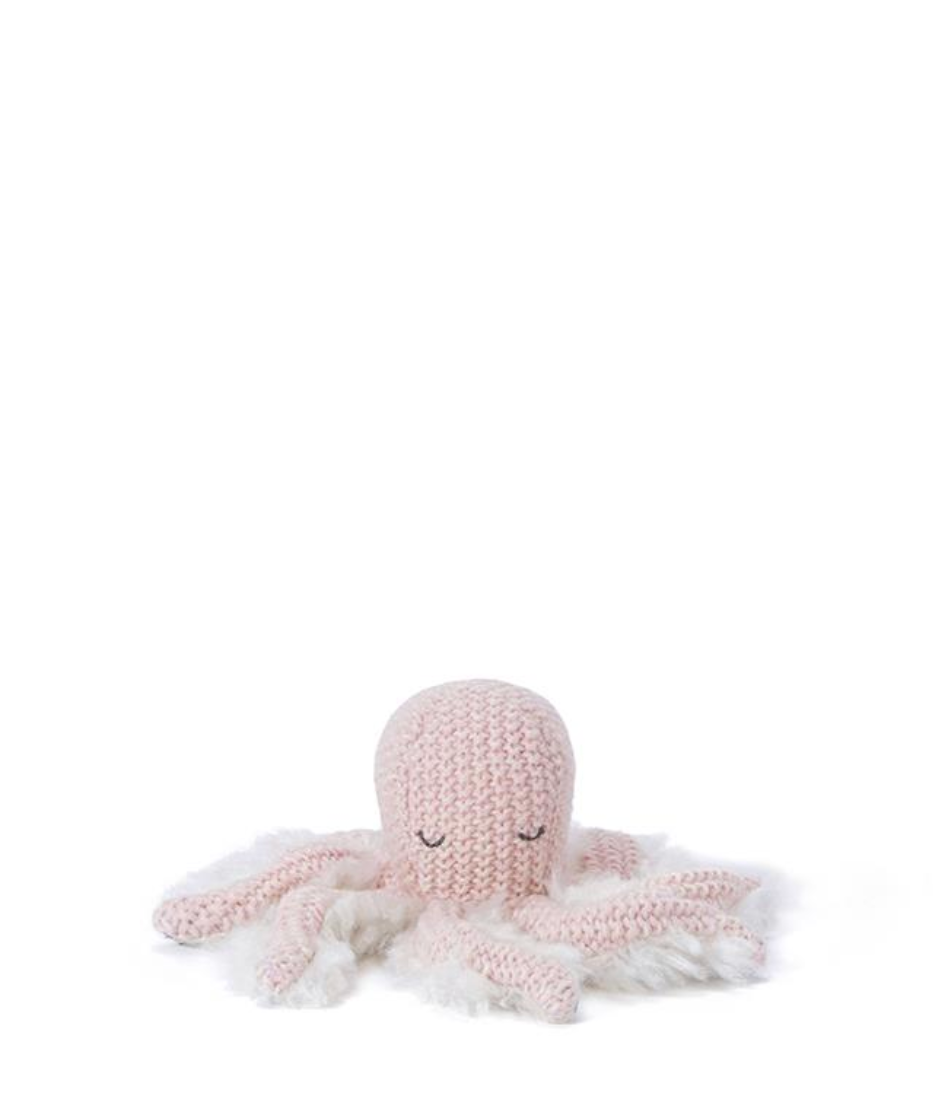 Ollie Octopus Rattle-Pink