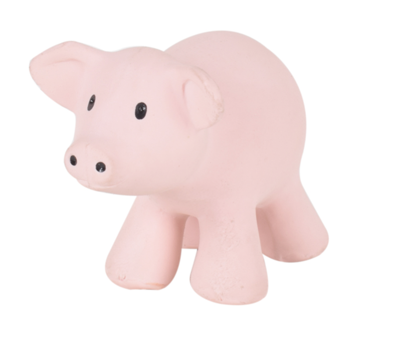 Pig Rubber Farm Animal Teether - Tikiri