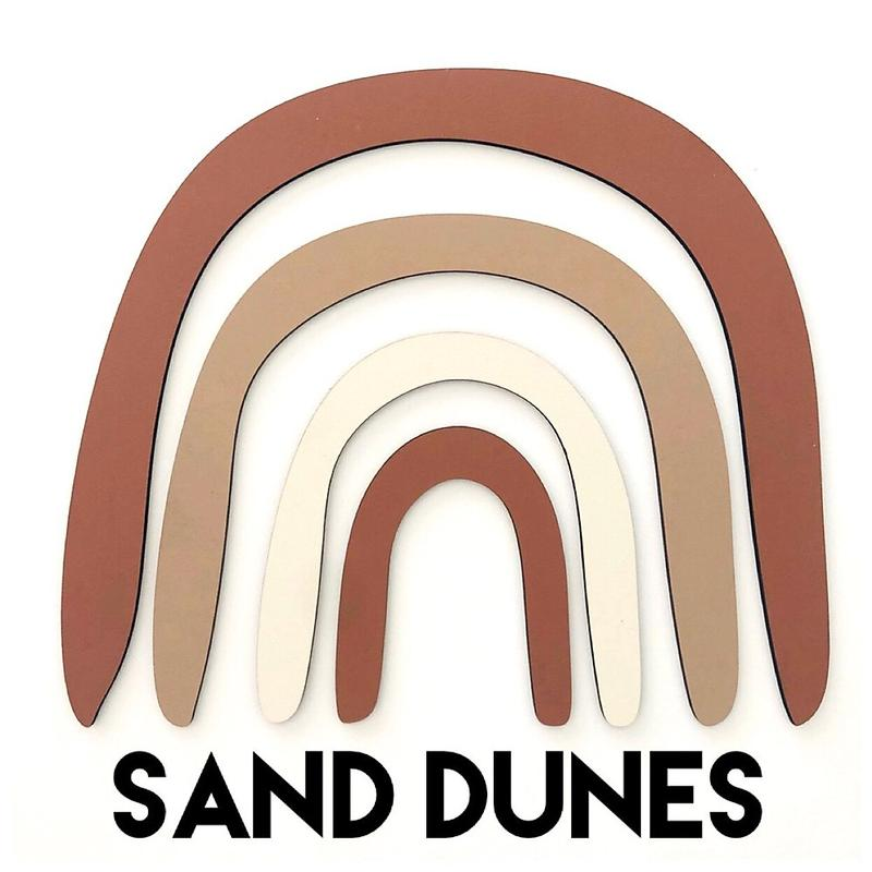Rainbow Wall Decal - Sand Dunes