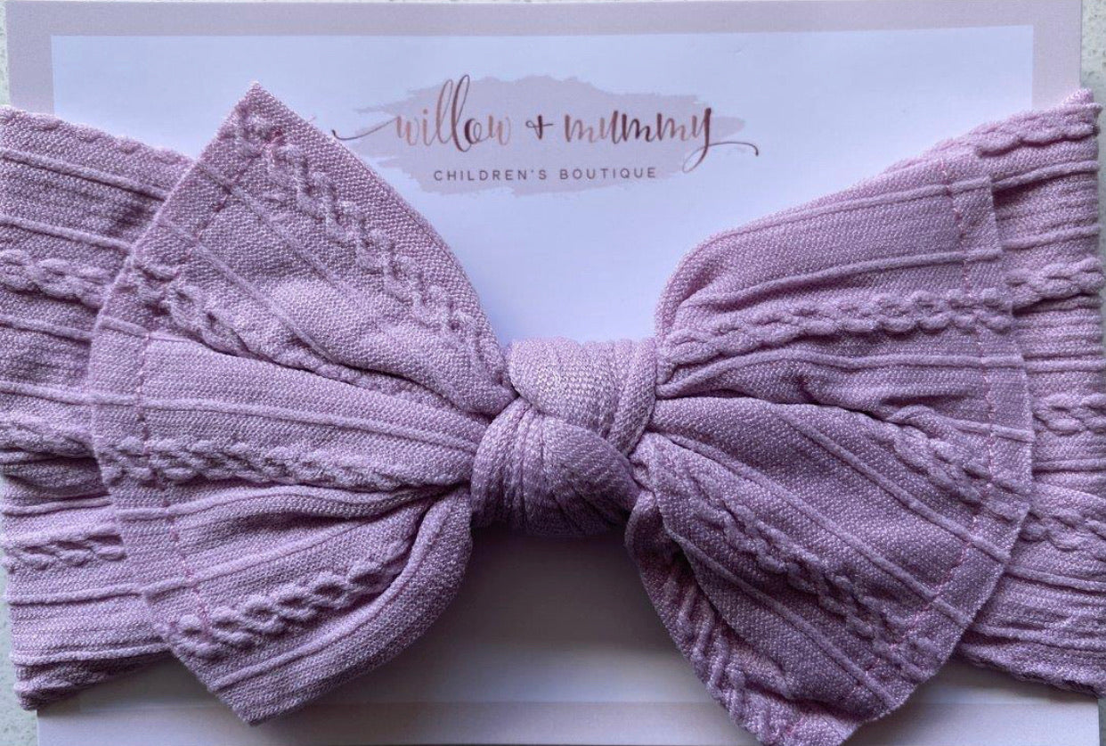 Stretch Topknot Headband | Lilac