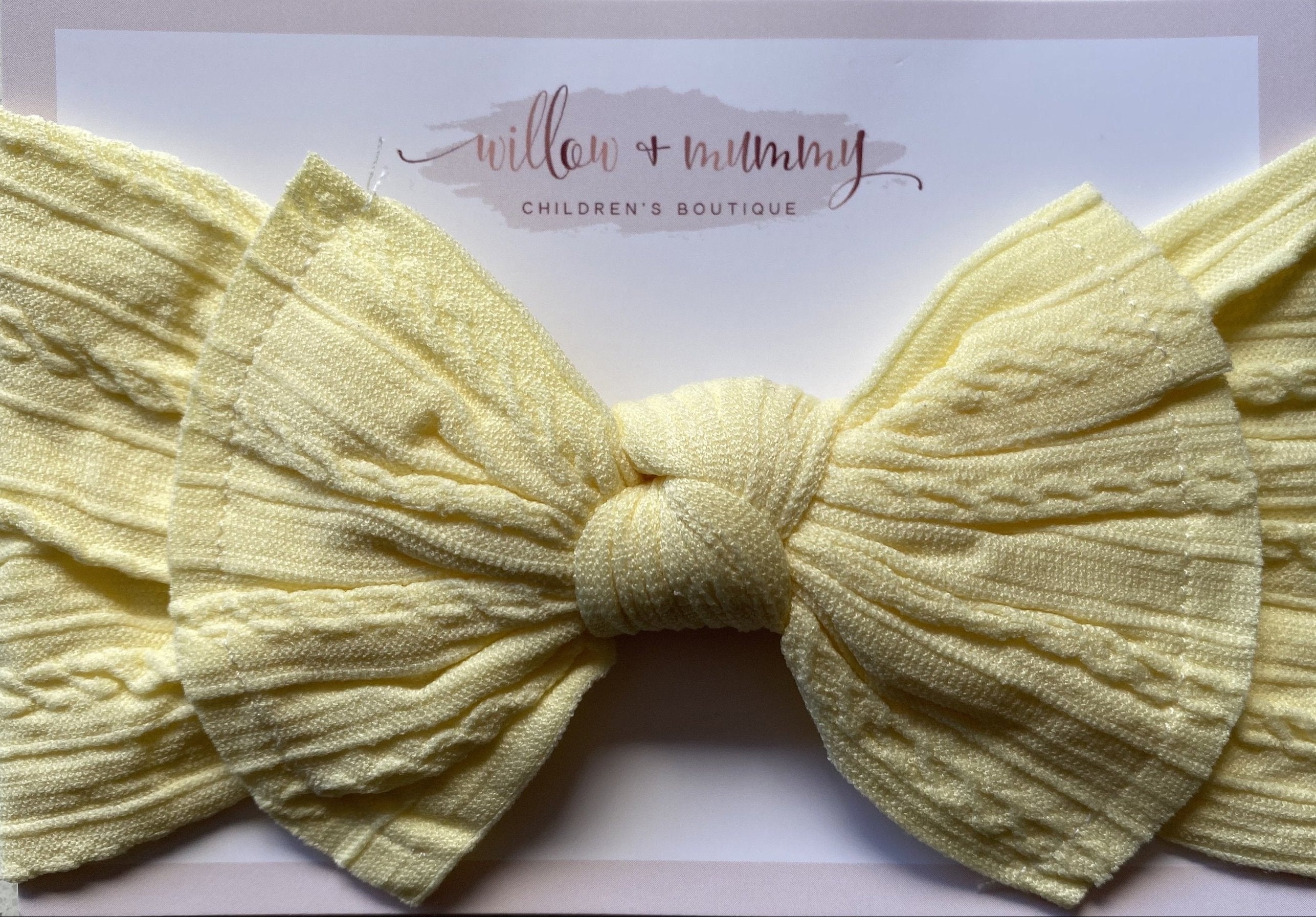Stretch Topknot Headband | Daffodil