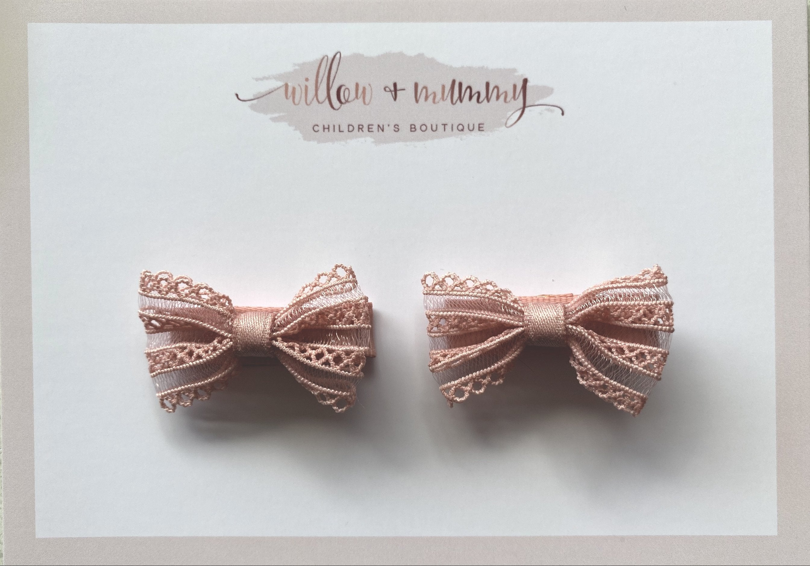 Small Pink Lace Bows