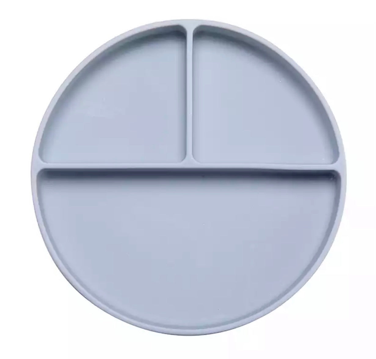 Silicone Suction Divider Plate | Blue Grey