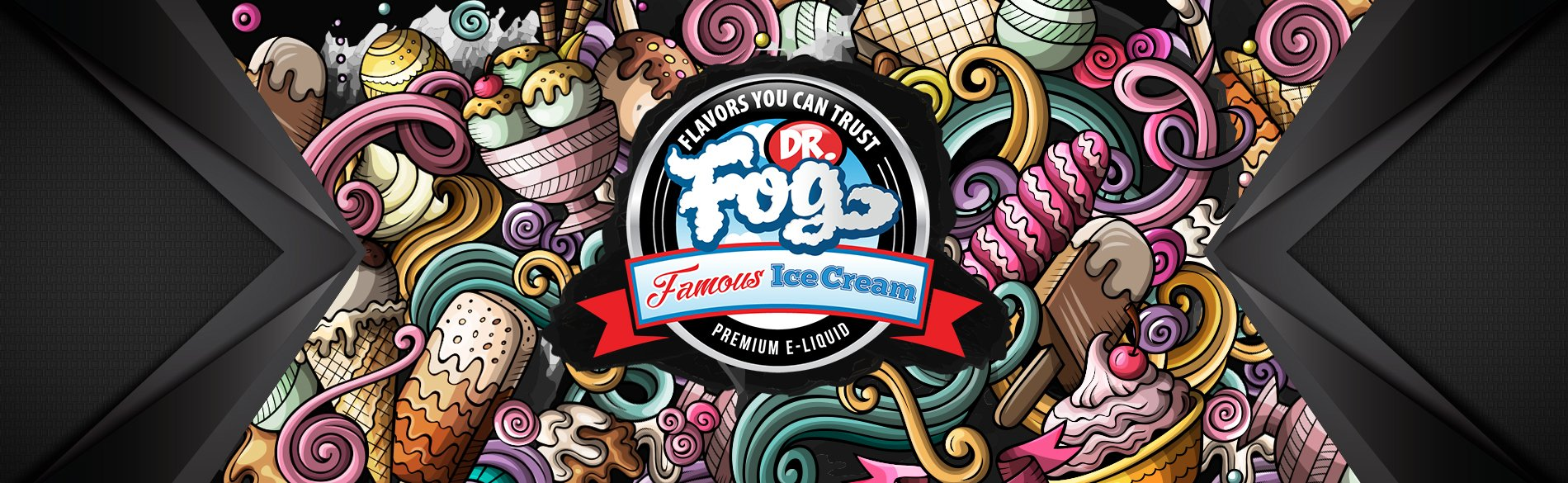 Dr. Fog Famous Ice Cream Series 100ml Shortfill - ECIGONE