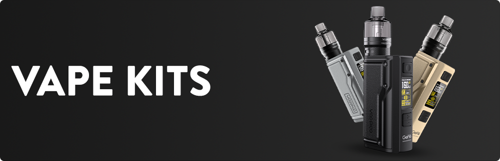 Vape Kits - Find yourself the ideal Vape Kit from our selection. You'll be able to find everything from easy-to-use Pod Kits to more advanced High-End Kits. Vape industry is constantly changing and evolving to the next level