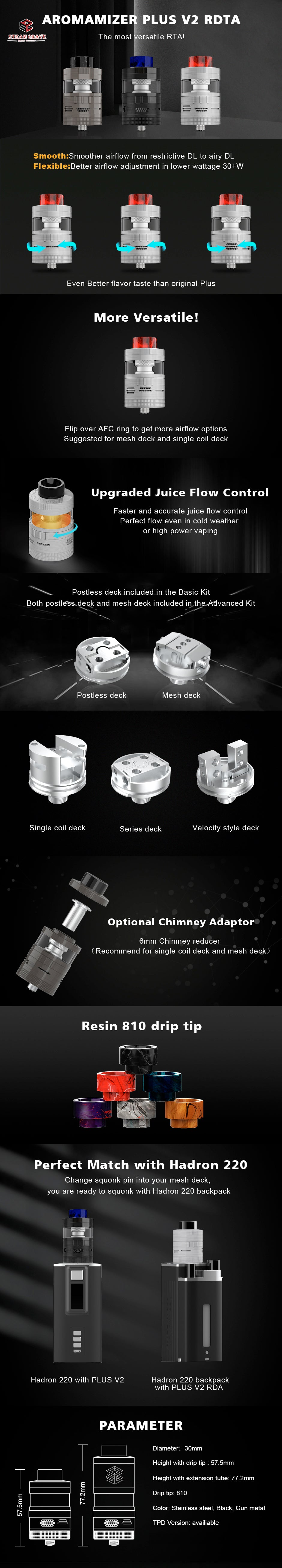 Aromamizer Plus V2 RDTA by Steam Crave Advance Edition