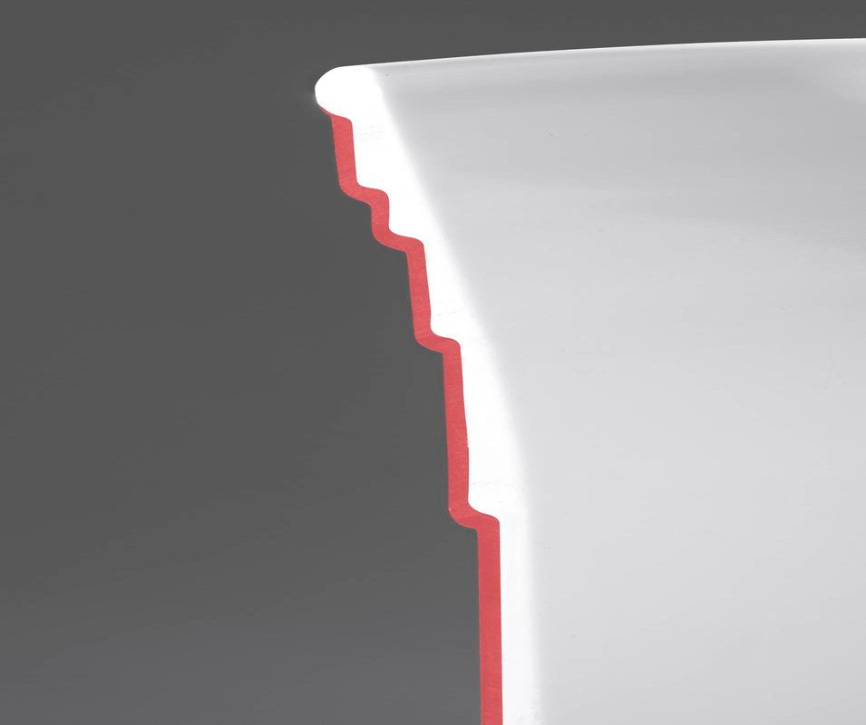 Reusable Plastic Red Party Cup Cut in Half to Show Quality of Red Cup Living Cups